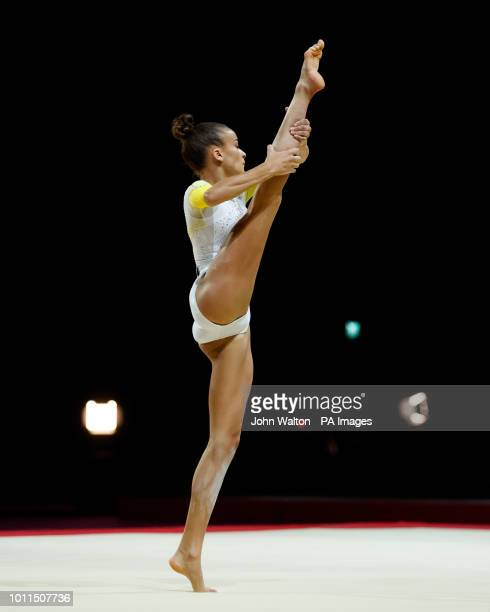 Great Britain's GeorgiaMae Fenton during the women's floor final during day four of the 2018 European Championships at The SSE Hydro Glasgow