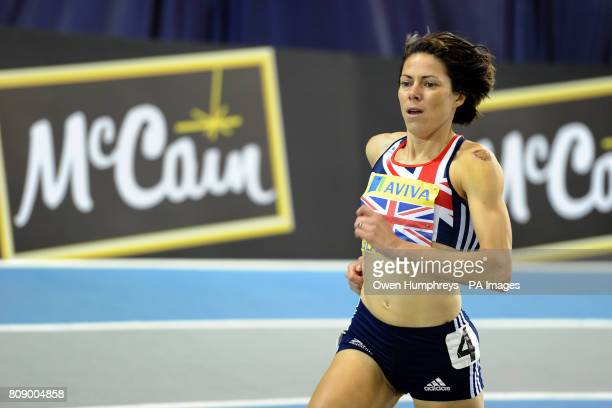 Great Britain's Helen Clitheroe in the Women's 3000 Metres during the Aviva International Match at Kelvin Hall Glasgow