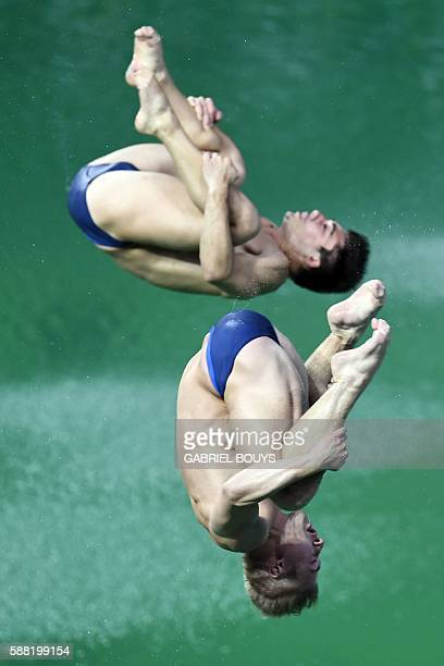 TOPSHOT Great Britain's Jack Laugher and Great Britain's Chris Mears compete in the Men's Synchronised 3m Springboard Final during the diving event...