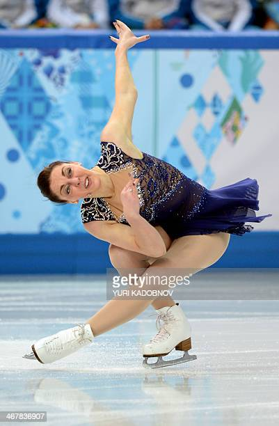 Great Britain's Jenna McCorkell performs in the Women's Figure Skating Team Short Program at the Iceberg Skating Palace during the 2014 Sochi Winter...