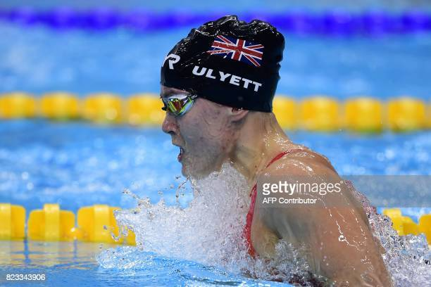 Great Britain's Jocelyn Kate Ulyett competes in a women's 200m breaststroke heat during the swimming competition at the 2017 FINA World Championships...