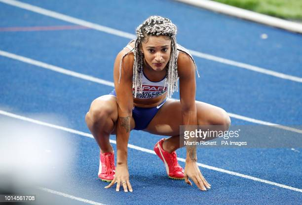 Great Britain's Jodie Williams after the Women's 200m SemiFinal 3 during day four of the 2018 European Athletics Championships at the Olympic Stadium...