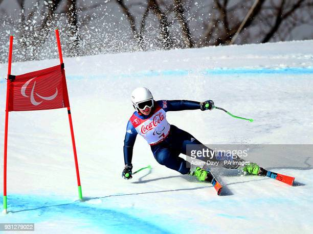 Great Britain's Kelly Gallagher in the Women's Super Combined Visually Impaired Super G at the Jeongseon Alpine Centre during day four of the...