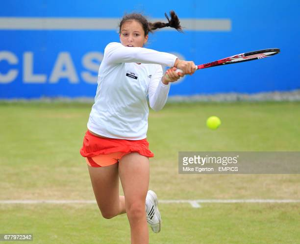 Great Britain's Laura Robson during her first round match against Grace Min