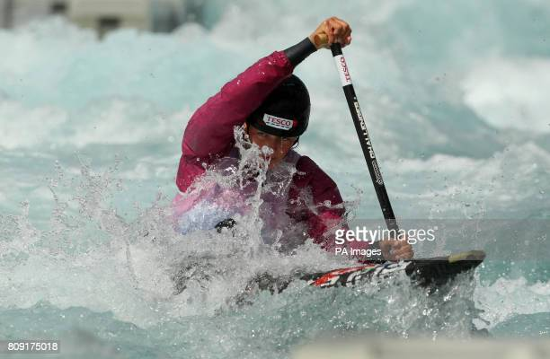 Great Britain's Mallory Franklin in action in the womens C1 canoe during the Team GB Slalom Selection at Lee Valley White Water Park Middlesex