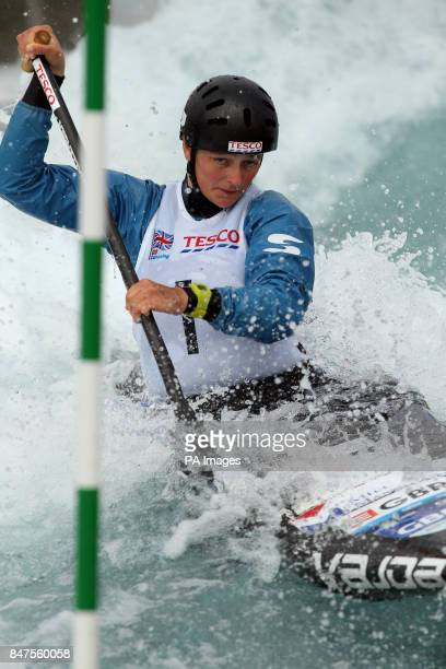 Great Britain's Mallory Franklin in action in the women's canoe single event during day one of the Tesco Canoe Slalom 2012 Selection Trials at Lee...