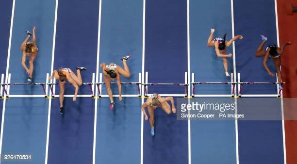 Great Britain's Marilyn Nwawulor in the Women's 60m Hurdle Heat 3 during day two of the 2018 IAAF Indoor World Championships at The Arena Birmingham...