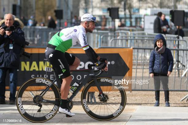 Great Britain's Mark Cavendish of team Dimension Data pictured at the start of the 1385km 1st stage of the 77th ParisNice cycling race between...