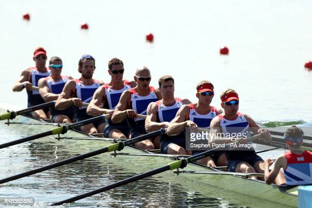 Great Britain's men's eight Alex Partridge James Foad Tom Ransley Ric Egington Mohamed Sbihi Greg Searle Matt Langridge Constantine Louloudis in...