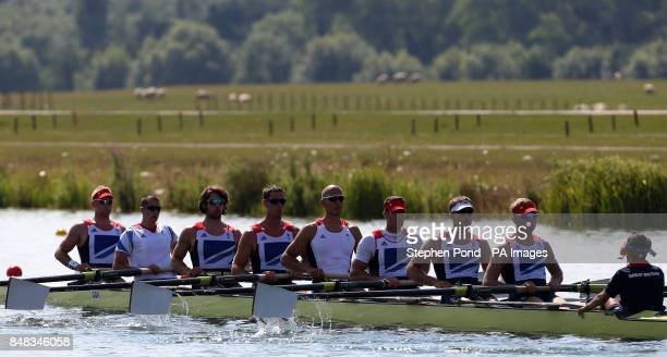 Great Britain's men's eight of Alex Partridge James Foad Tom Ransley Ric Egington Mohamed Sbihi Greg Searle Matt Langridge Constantine Louloudis and...