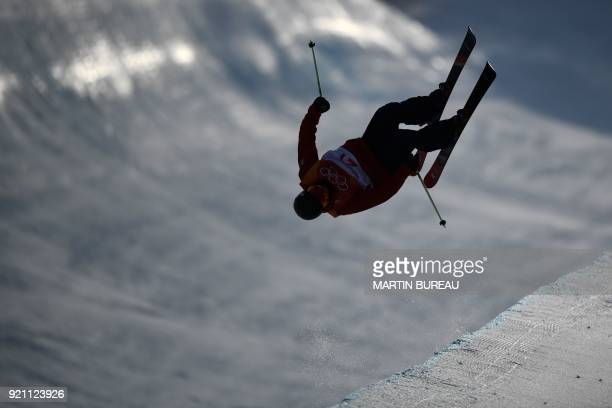 Great Britain's Murray Buchan competes in the men's ski halfpipe qualification event during the Pyeongchang 2018 Winter Olympic Games at the Phoenix...