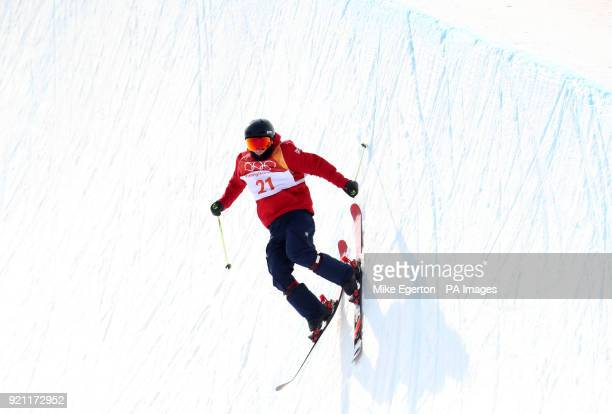 Great Britain's Murray Buchan in the Men's half Pipe at the Phoenix Snow Park during day eleven of the PyeongChang 2018 Winter Olympic Games in South...