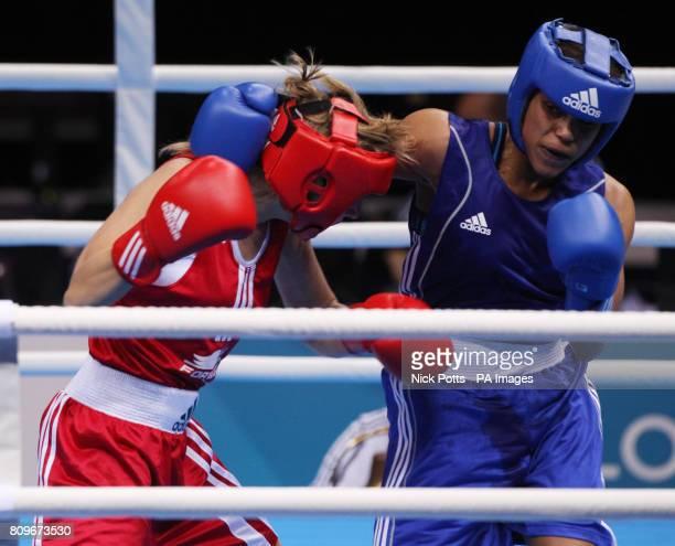 Great Britain's Natasha Jonas during her win over Russia's Anastasia Belyakova in the Women Light semi final during the Boxing International...