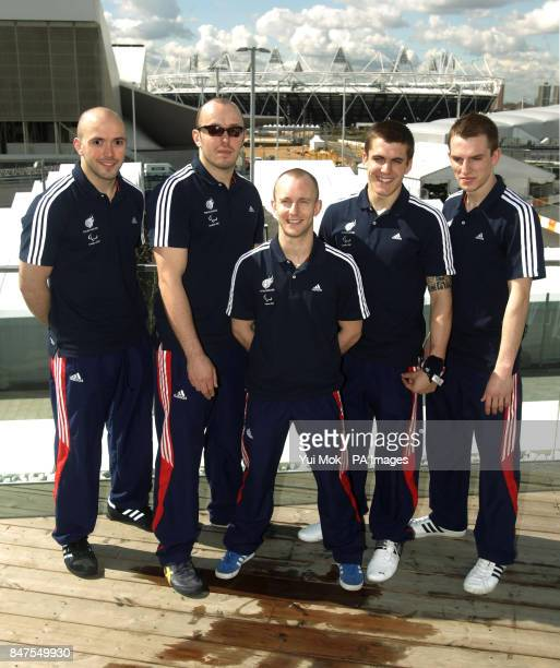 Great Britain's Paralympics Judo team Sam Ingram Joe Ingram Ben Quilter Dan Powell and Marc Powell during the announcement at Deloitte House London