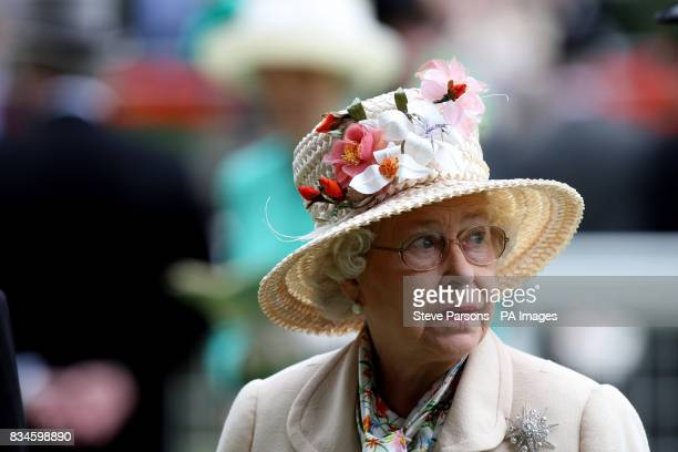 Great Britain's Queen Elizabeth II in the Parade ring on the Fourth day at Ascot Racecourse, Berkshire.