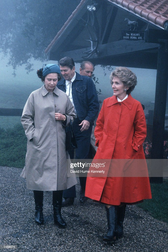 Queen Elizabeth II and Prince Philip walked with the