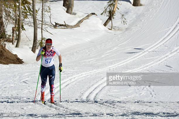 Great Britain's Rosamund Musgrave competes in the Women's CrossCountry Skiing 10km Classic at the Laura CrossCountry and Biathlon Center during the...