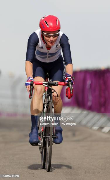 Great Britain's Sarah Storey in action during the Women's Individual C 4-5 Road Race at Brands Hatch in Kent during the Paralympic Games.