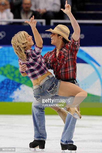 Great Britain's Sinead Kerr and John Kerr perform in the figure skating Ice Original program at the Pacific Coliseum in Vancouver during the 2010...