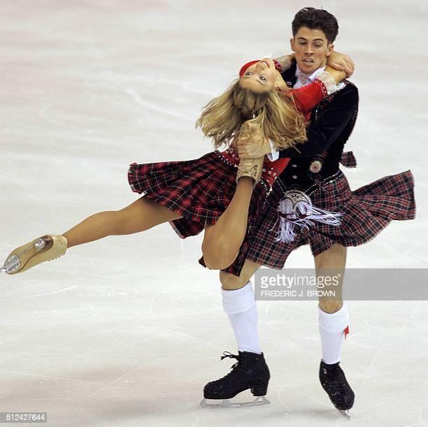 Great Britain's Sinead Kerr and John Kerr skate at the ISU Grand Prix of Figure Skating Cup of China 09 November 2007 in Harbin in China's northeast...