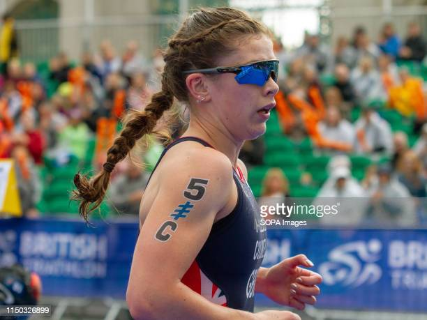 Great Britain's Sophie Coldwell seen in action during the Accenture World Triathlon Mixed Relay 2019, in Nottingham.
