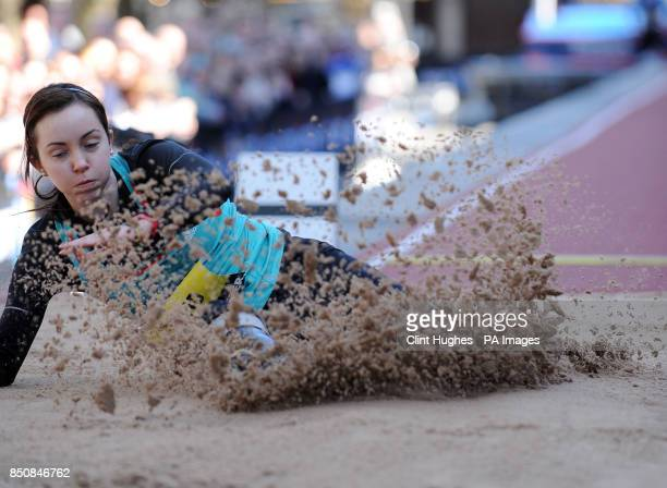 Great Britain's Stefanie Reid competes in the IPC long jump women T42/T44 during the BT Great City Games in Manchester