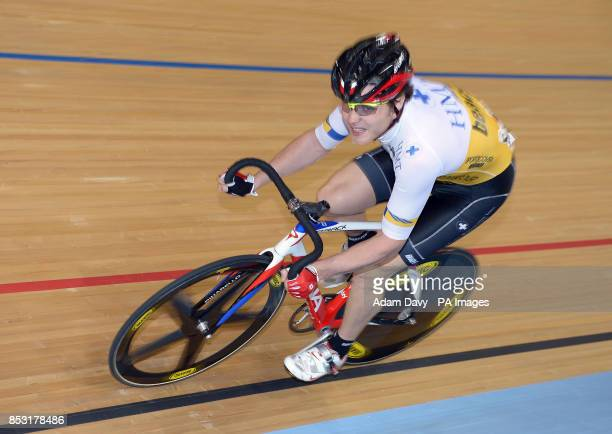 Great Britain's Steven Burke of HMTSportscover during the Elite Championship 1km Madison Time Trial during day two of Round Five of the Cycling...