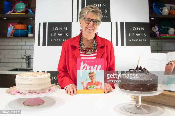 Great British Bake Off judge Prue Leith signs copies of her new cookbook 'Prue' at John Lewis Oxford Street Store on October 5, 2018 in London,...