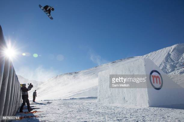 Great British freestyle Snowboarder Jamie Nicholls from GB Park Pipe the freestyle Ski and Snowboard Olympic development team at their brand new...