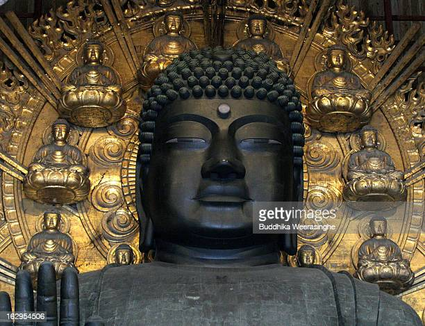 Great Buddha statue located in the Daibutsuden at Todaiji Temple on March 2 2013 in Nara Japan The Buddhist Todaiji temple was built in 752 AD and is...