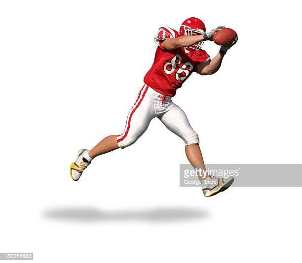 gran trabaje con trazado de recorte - corredor jugador de fútbol americano fotografías e imágenes de stock