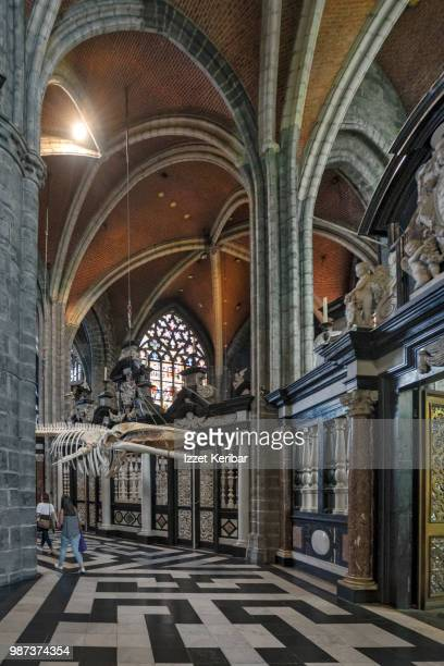 great cathedral of ghent st bavo'si interior image. - bavosi stock pictures, royalty-free photos & images