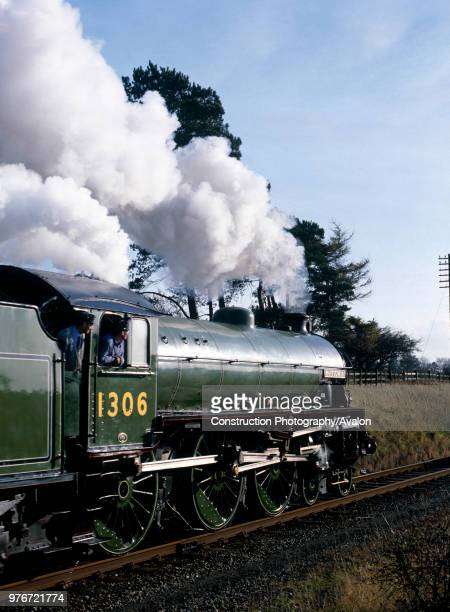 Great Central Railway No 1306 Mayflower leaves Loughborough with the 1300 for Rothley United Kingdom