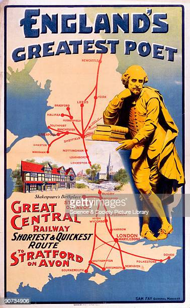 Great Central Railway poster promoting the �Shortest and Quickest Route to StratfordonAvon�