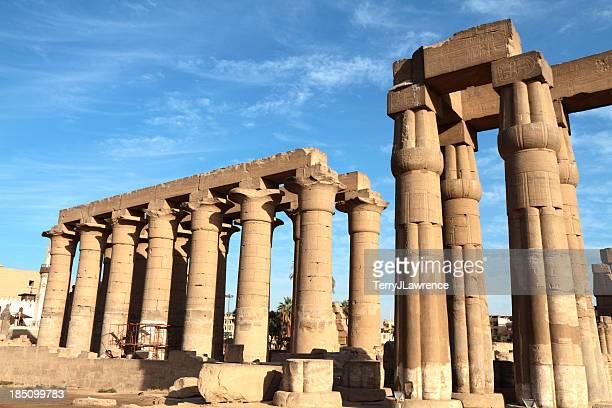 Gran Colonnade y Tribunal de Amenhotep III, templo de Luxor, Egipto