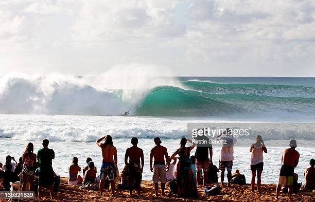 Great conditions on the opening day of competition at the Banzai Pipeline on December 8 2011 in North Shore United States