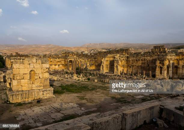 Great court of the temple complex Beqaa Governorate Baalbek Lebanon on May 1 2017 in Baalbek Lebanon