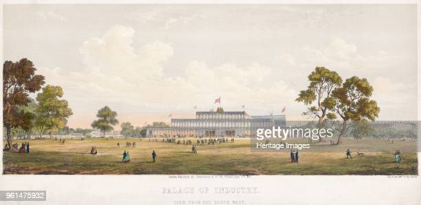Great Exhibition Crystal Palace Hyde Park London 1851 View of the Crystal Palace of Industry from the northwest From the Mayson Beeton Collection...