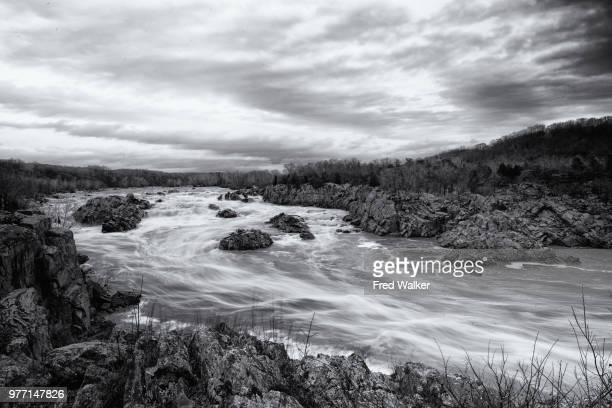great falls on potomac river, fairfax county, virginia, usa - fairfax county virginia stock photos and pictures