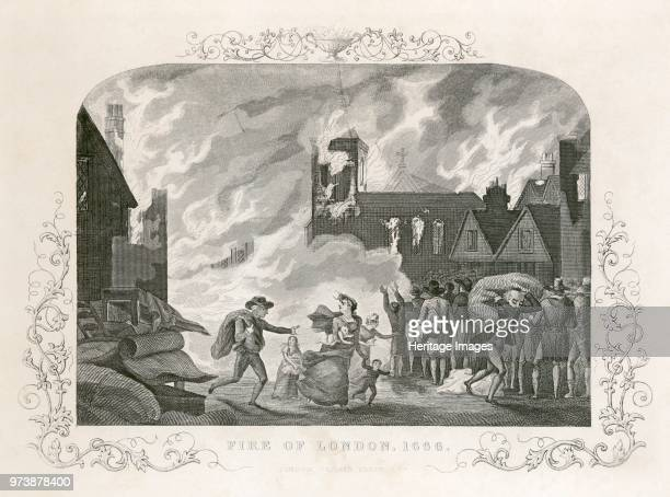 Great Fire of London, 1666 . From the Mayson Beeton Collection. Artist Unknown.