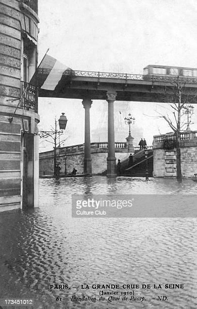 Great Flood of Paris 1910 Flooding at Quai de Passy 1910