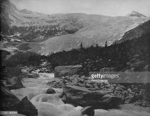 Great Glacier Selkirk Mountains Canada' circa 1897 Illecillewaet Glacier in in the Selkirk Mountains a subrange of the Columbia Mountains in British...