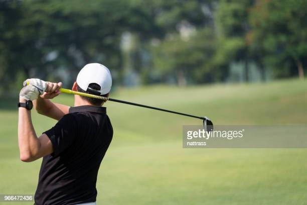 great golf shot - golf swing stock pictures, royalty-free photos & images