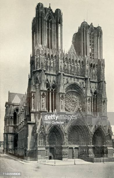 the Cathedral at Rheims built in the 13th and 14th Centuries' circa 1930 View of the cathedral at Reims northern France formerly the place of...