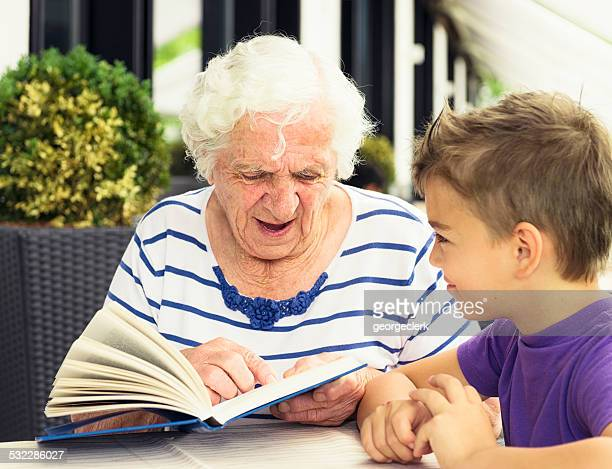 Great Grandmother Reading a Story