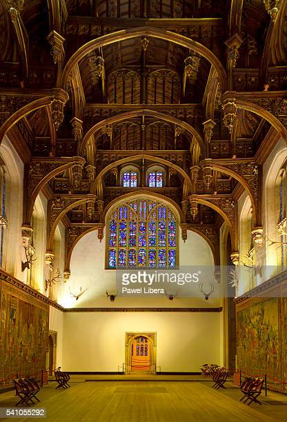 great hall in hampton court palace - hampton court stock pictures, royalty-free photos & images