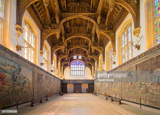great hall in hampton court place - hampton court stock pictures, royalty-free photos & images