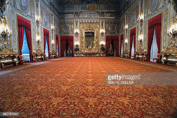 Great hall view of the east side Quirinal Palace Rome Lazio Italy