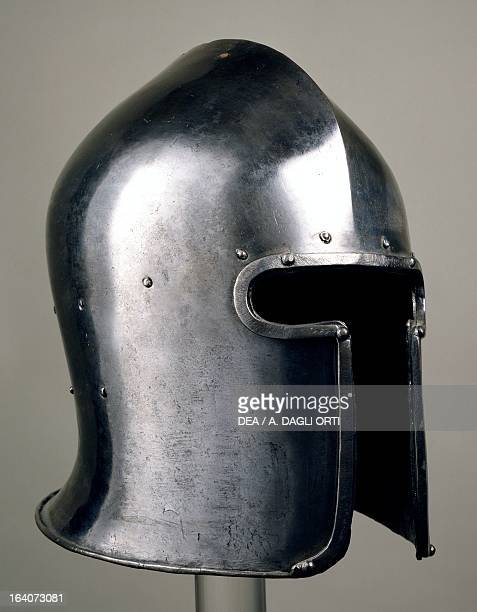 Great helmet for an Italian infantryman made in Brescia by the armourer Provasio from Milan Italy 15th century