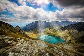 Great Hinczowy Pond in High Tatra Mountains, Slovakia